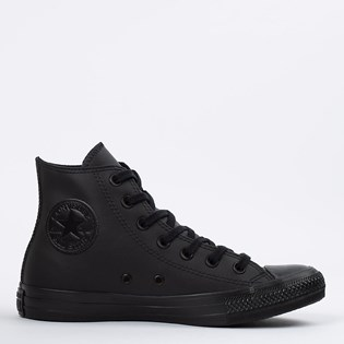 Tênis Converse Chuck Taylor All Star Monochrome Leather Hi Preto Preto CT08250002