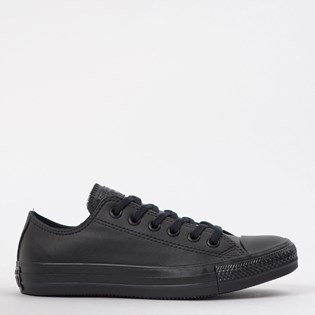 Tênis Converse Chuck Taylor All Star Monochrome Leather Ox Preto Preto CT08260002