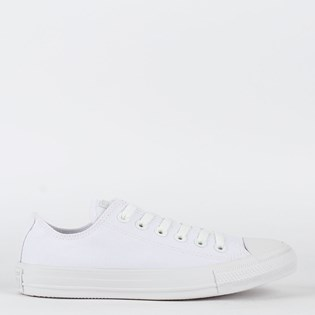 bb6eee717a1 Tênis Converse Chuck Taylor All Star Monochrome Ox Branco Branco CT04460001  ...