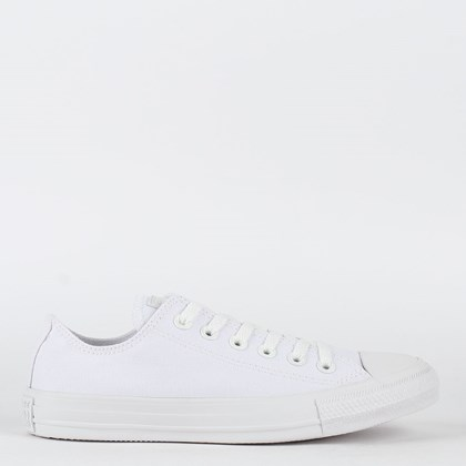 Tênis Converse Chuck Taylor All Star Monochrome Ox Branco Branco CT04460001