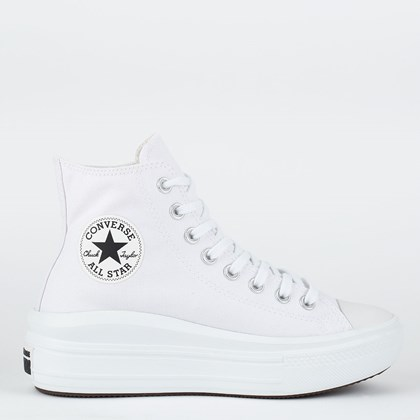 Tênis Converse Chuck Taylor All Star Move Hi Branco Branco CT15460002