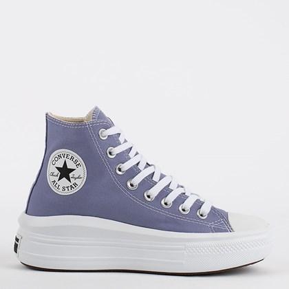 Tênis Converse Chuck Taylor All Star Move Hi Lilas Branco CT17810002