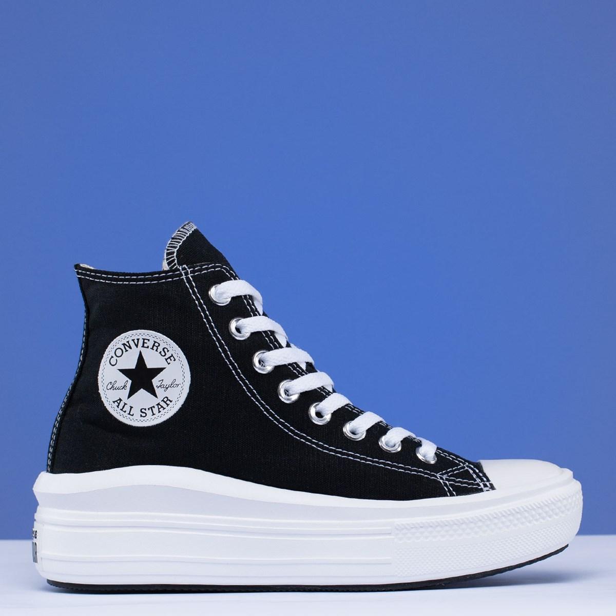 Tênis Converse Chuck Taylor All Star Move Mix And Match Hi Black Natural Ivory 568497C