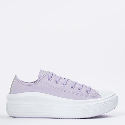 Tênis Converse Chuck Taylor All Star Move Ox Lilas Prata Puro CT16160002