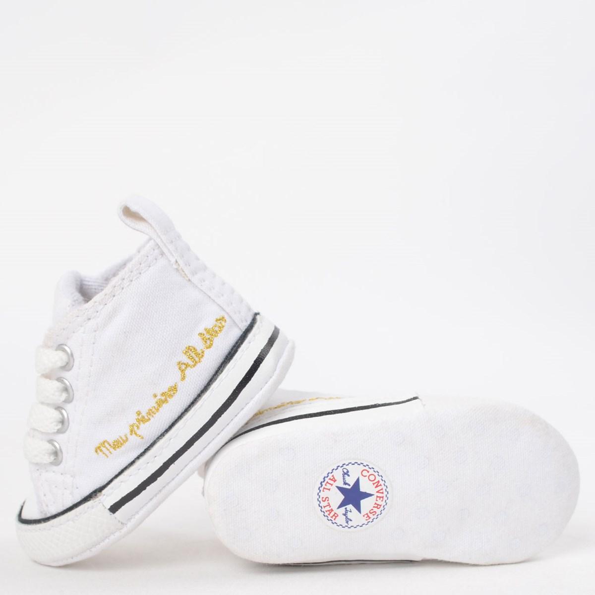 Tênis Converse Chuck Taylor All Star My First All Star Kids Branco Branco CK04400003