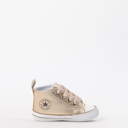 Tênis Converse Chuck Taylor All Star My First All Star Kids Ouro Branco CK03180001
