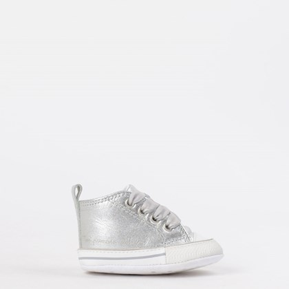 Tênis Converse Chuck Taylor All Star My First All Star Kids Prata Branco CK03180002