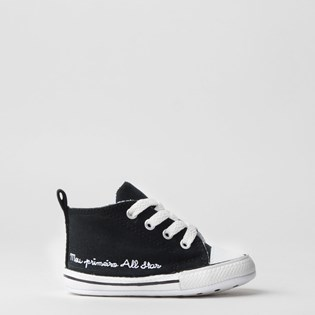 Tênis Converse Chuck Taylor All Star My First All Star Kids Preto Branco CK04400001