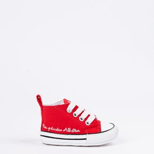 Tênis Converse Chuck Taylor All Star My Fisrt All Star Kids Vermelho Branco CK04400002
