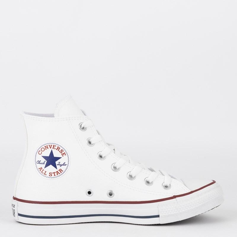 28ef27eb3f083 Tênis Converse Chuck Taylor All Star New Malden Hi Branco Vermelho  CT04510001