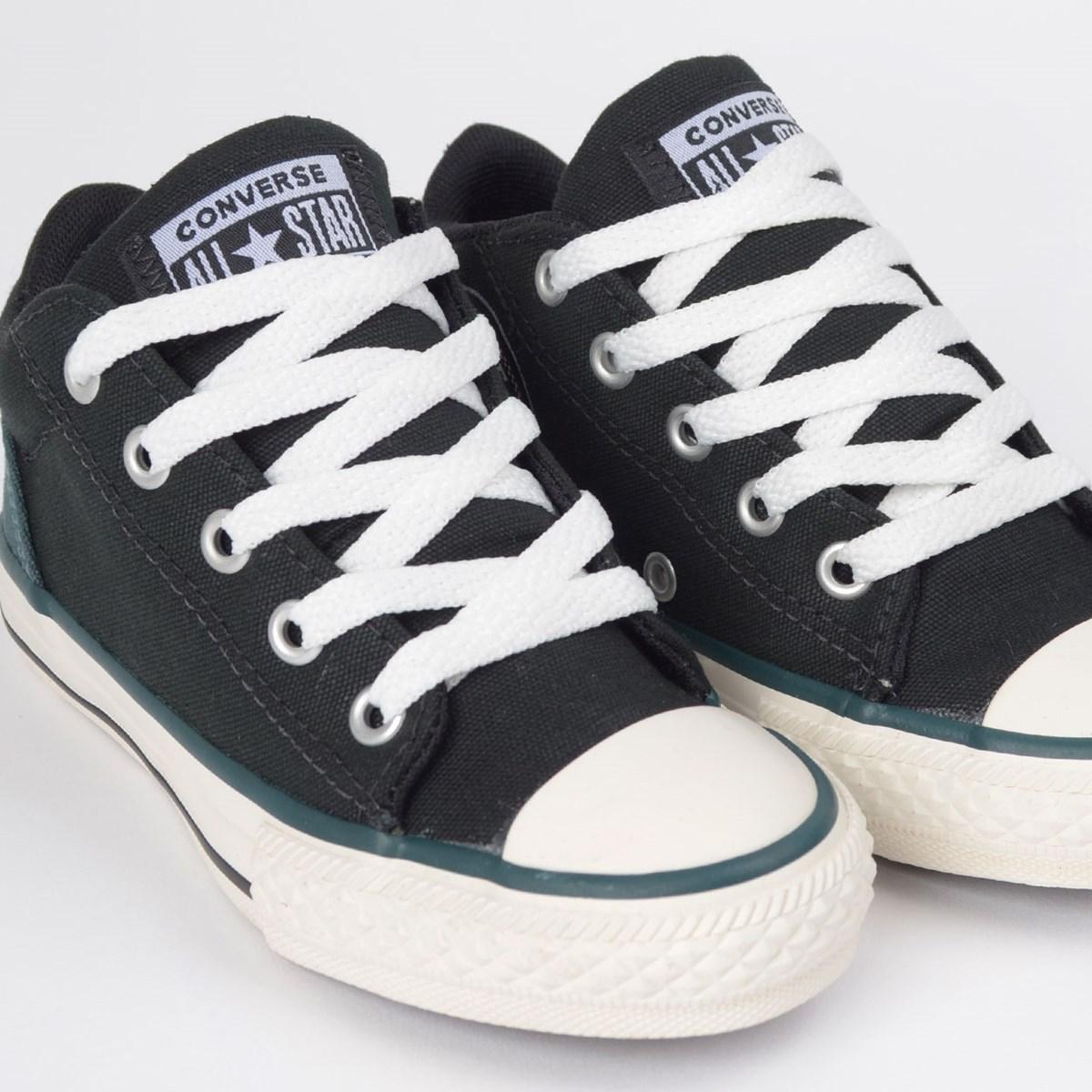 Tênis Converse Chuck Taylor All Star Ollie Kids Preto Verde Escuro CK07960001