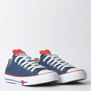 Tênis Converse Chuck Taylor All Star Ox Azul Vermelho CT09890001