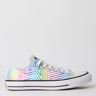 Tênis Converse Chuck Taylor All Star Ox Branco Preto CT12630001