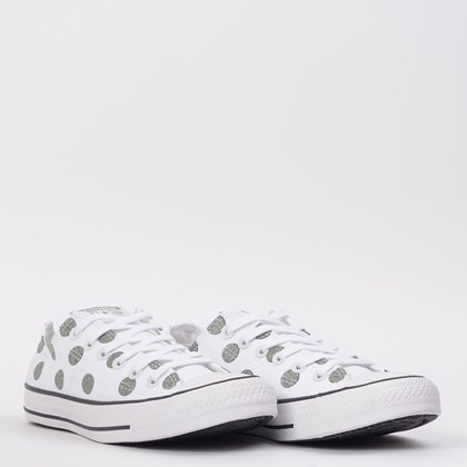Tênis Converse Chuck Taylor All Star Ox Branco Preto CT15340003