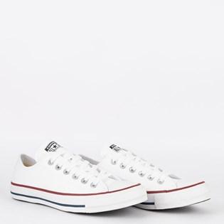 Tênis Converse Chuck Taylor All Star Ox Branco Vermelho CT04500001