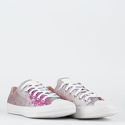 Tênis Converse Chuck Taylor All Star Ox Classic Shimmer Shine Rosa Sal Pink Fluor CT17480002