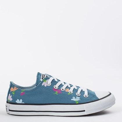 Tênis Converse Chuck Taylor All Star Ox Floral Print Azul Escuro Azul Cambraia CT16670002