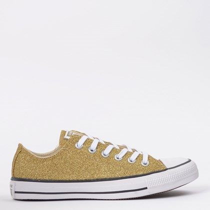 Tênis Converse Chuck Taylor All Star Ox Ouro Glitter CT14630002