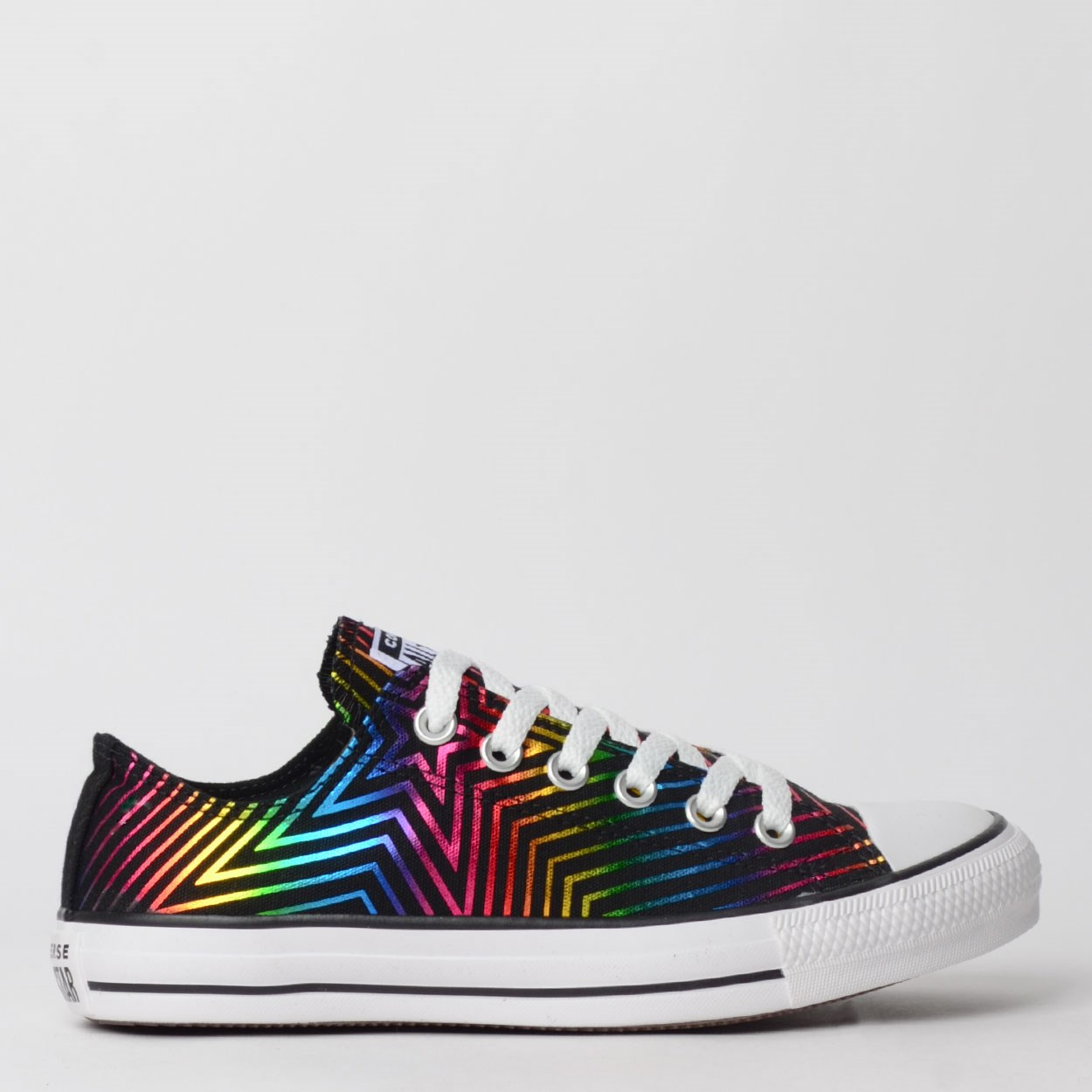 Tênis Converse Chuck Taylor All Star Ox Preto Branco CT12630002