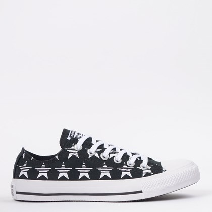 Tênis Converse Chuck Taylor All Star Ox Preto Branco CT14800001