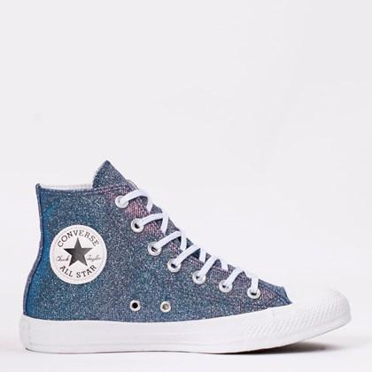 Tênis Converse Chuck Taylor All Star Pink Fluor Cinza Metalizado Branco CT12390002