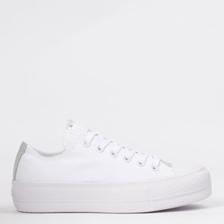 Tênis Converse Chuck Taylor All Star Plataforma Lift Branco Iridescente CT12940002