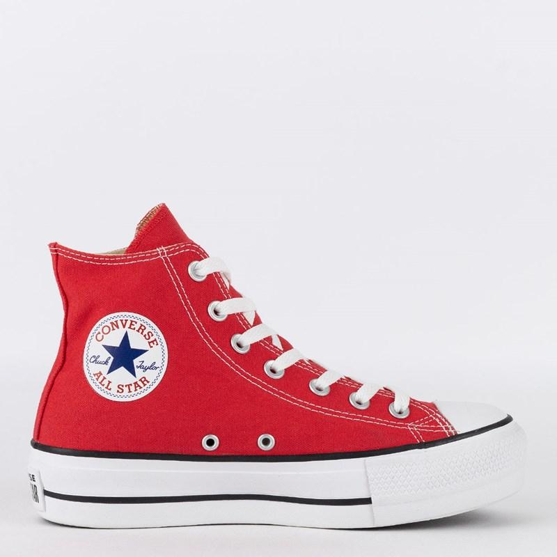 5dd9c0b3cf Tênis Converse Chuck Taylor All Star Platform Hi Vermelho CT04940002 ...