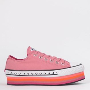 Tênis Converse Chuck Taylor All Star Platform Layer Ox Rosa Palido CT13960002