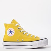 Tênis Converse Chuck Taylor All Star Platform Lift Hi Amarelo Vivo CT12000014