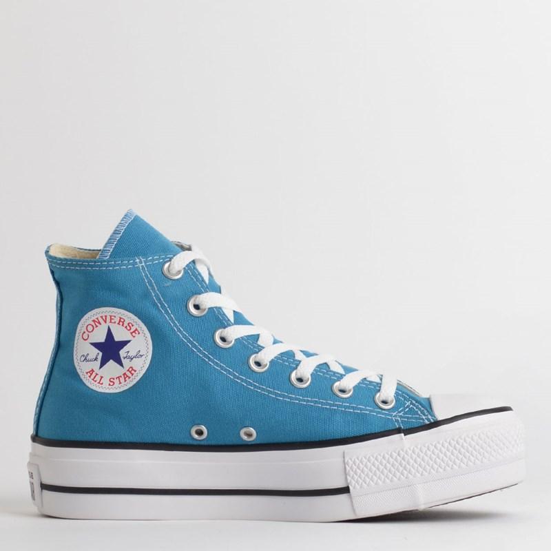 Tênis Converse Chuck Taylor All Star Platform Lift Hi Azul Acido CT12000016