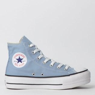 Tênis Converse Chuck Taylor All Star Platform Lift Hi Azul Aco Preto CT12000009
