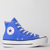 Tênis Converse Chuck Taylor All Star Platform Lift Hi Azul Aurora CT12000011