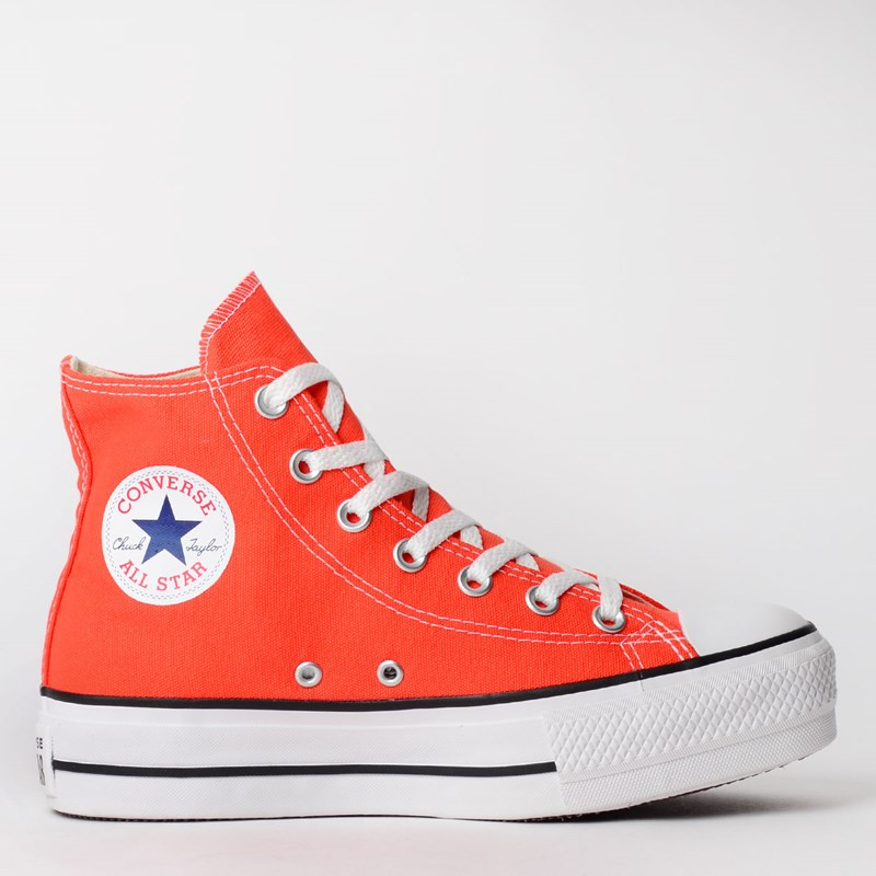 Tênis Converse Chuck Taylor All Star Platform Lift Hi Fogo CT12000012