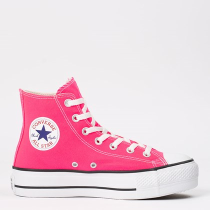 Tênis Converse Chuck Taylor All Star Platform Lift Hi Rosa Choque CT12000030