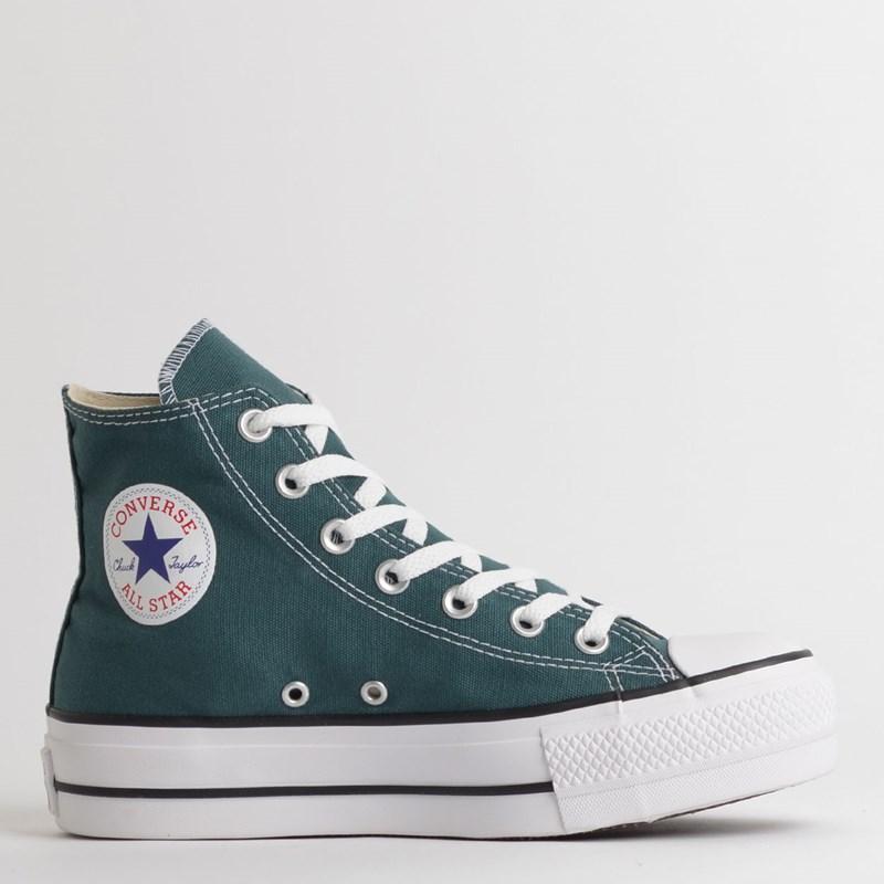 Tênis Converse Chuck Taylor All Star Platform Lift Hi Verde Escuro Preto CT12000020