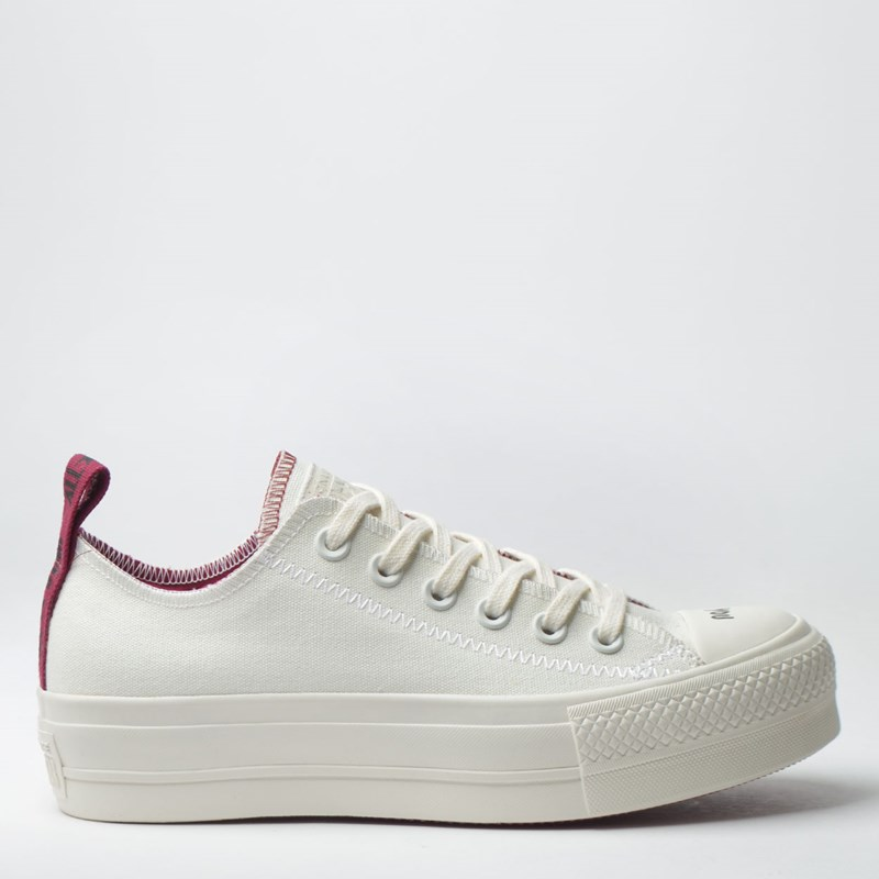 2a05a7e33a Tênis Converse Chuck Taylor All Star Platform Lift Ox Amendoa Bordo  CT12900001