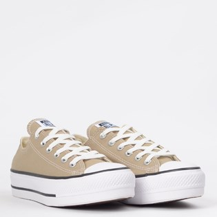 Tênis Converse Chuck Taylor All Star Platform Lift Ox Caqui Branco CT09630019