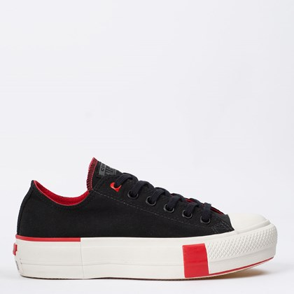 Tênis Converse Chuck Taylor All Star Platform Lift Ox Love Preto CT14230001