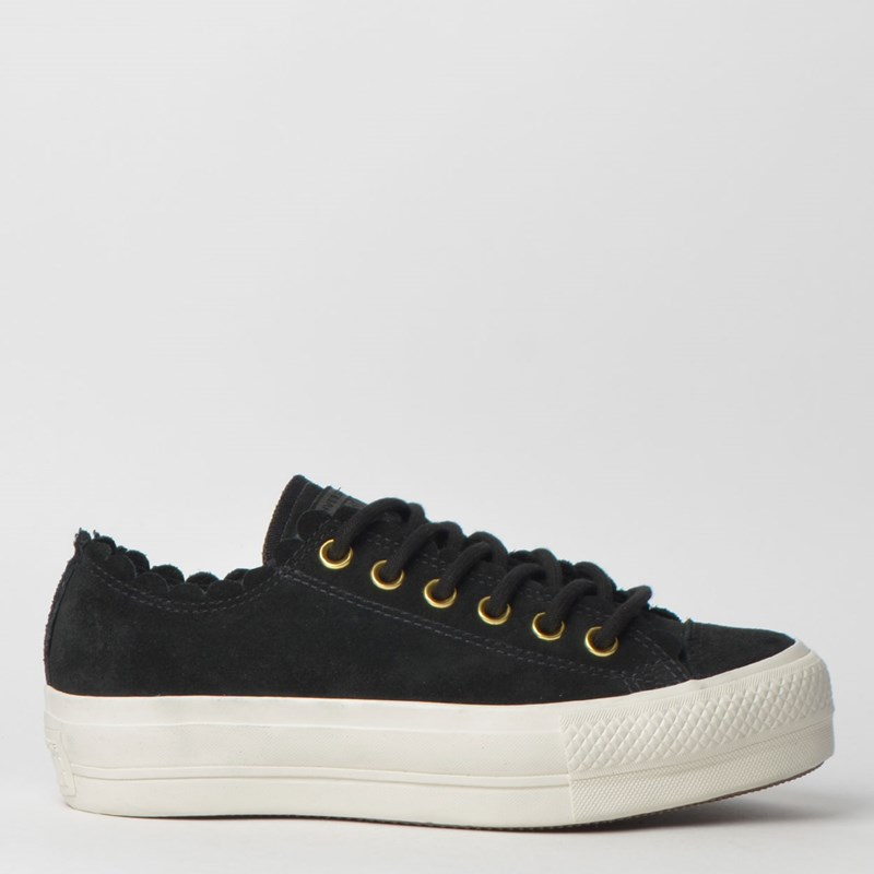 Tênis Converse Chuck Taylor All Star Platform Lift Ox Preto Amendoa CT11820003