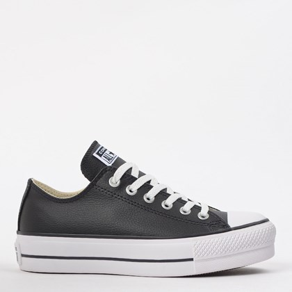 Tênis Converse Chuck Taylor All Star Platform Lift Ox Preto Branco CT09830002