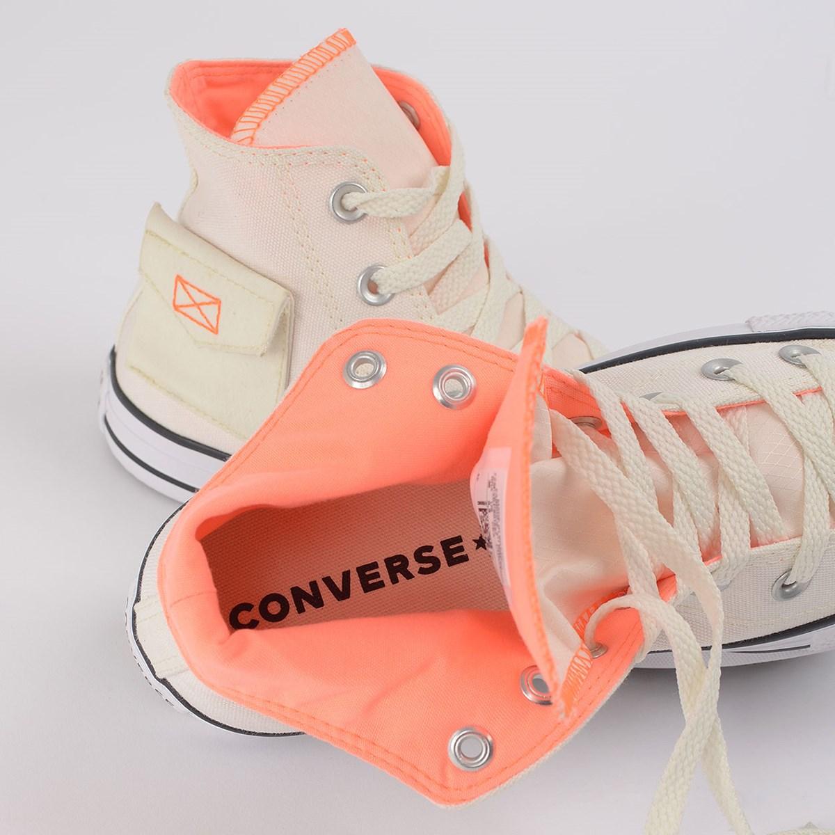 Tênis Converse Chuck Taylor All Star Pocket Hi Bege Claro CT14830002