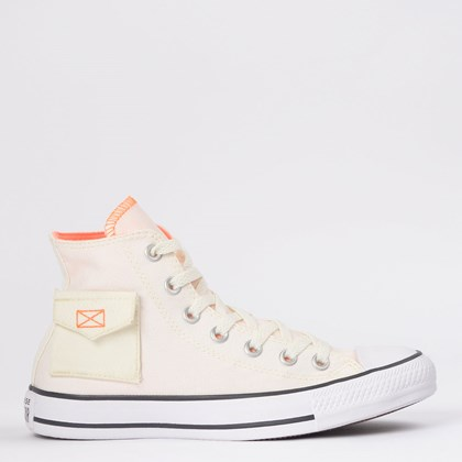 Tênis Converse Chuck Taylor All Star Pocket Hi Bege Claro CT14830002