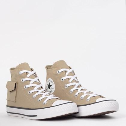 Tênis Converse Chuck Taylor All Star Pocket Hi Caqui Branco CT13120003