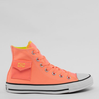Tênis Converse Chuck Taylor All Star Pocket Hi Coral CT14830001