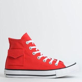 Tênis Converse Chuck Taylor All Star Pocket Hi Vermelho Branco CT13120002