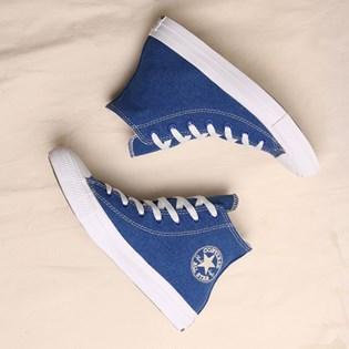 Tênis Converse Chuck Taylor All Star Renew Cotton Hi Rush Blue Natural 166741C