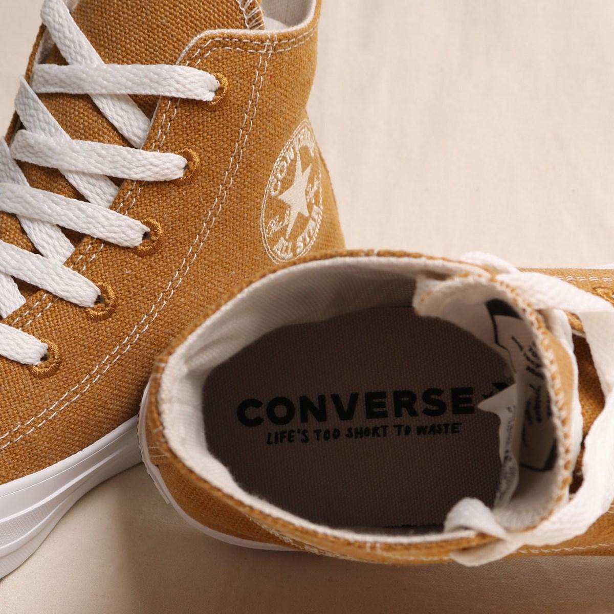 Tênis Converse Chuck Taylor All Star Renew Cotton Hi Wheat Natural White 166740C