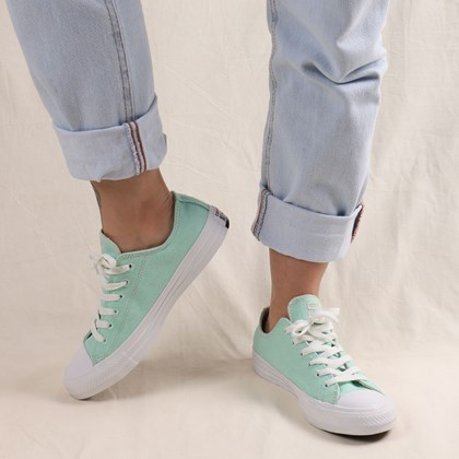 Tênis Converse Chuck Taylor All Star Renew Cotton Ox Ocean Mint Natural 166745C Ocean