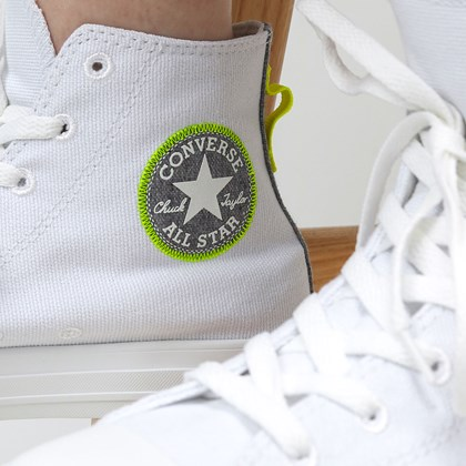 Tênis Converse Chuck Taylor All Star Renew Hi White Lemon Venom 168594C