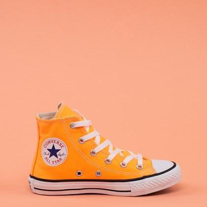 Tênis Converse Chuck Taylor All Star Seasona Kids Laranja Flúor CK04280023